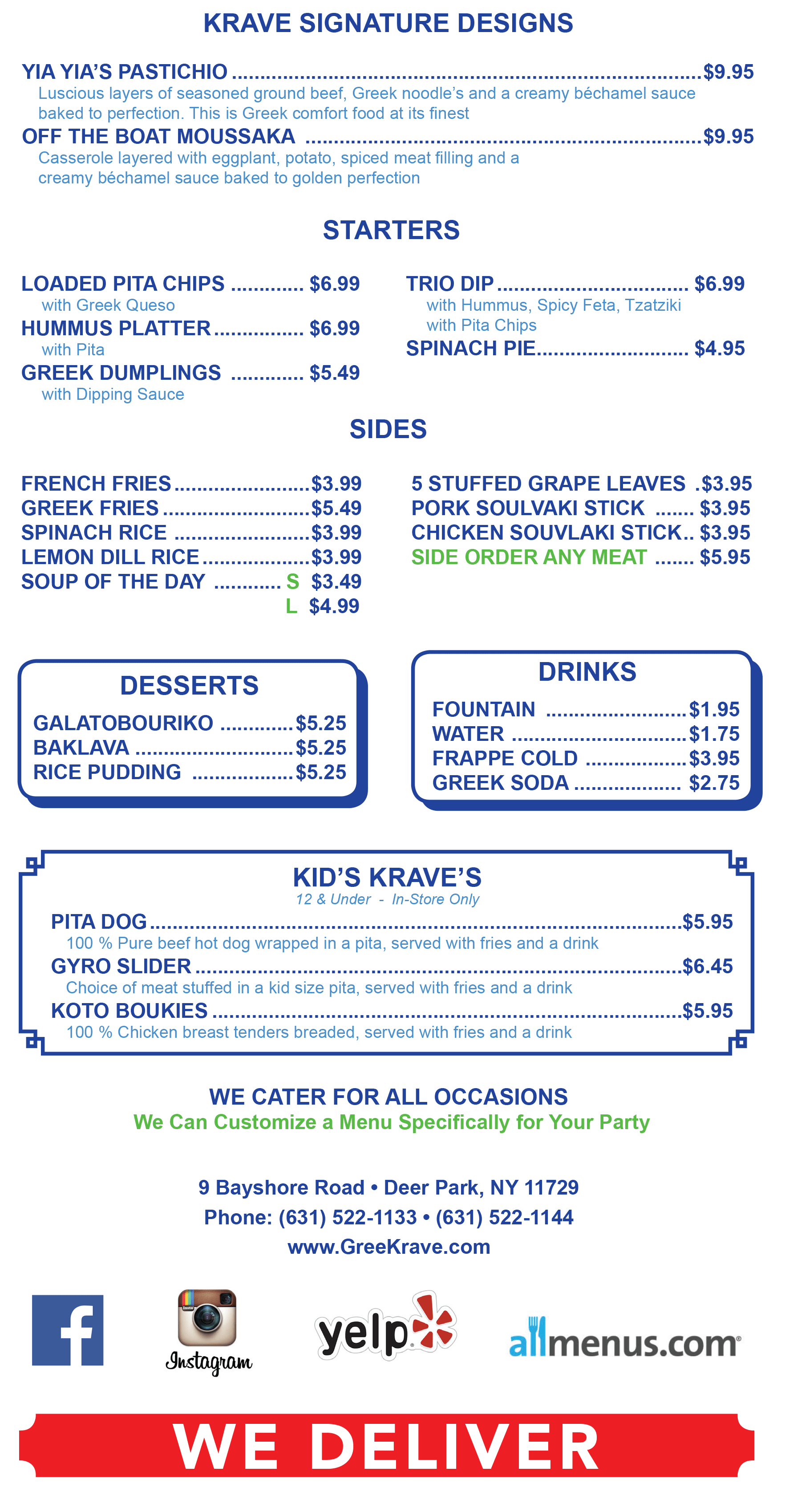 Greekrave Menu 2